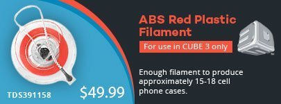 3D Systems Cube3 Red ABS Filament for $44.99