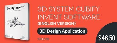 3D Systems Cubify Invent Software for $46.50