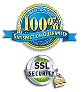 100% Satisfaction Guarantee , Secure Sockets Layer Security