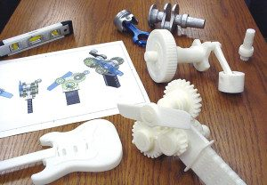 3D Printed Parts Using ABS Plastic
