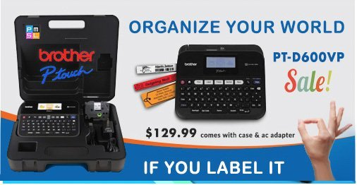 Brother P-touch PT-D600VP Labeling System $129.99