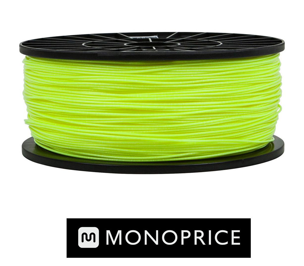 Monoprice Fluorescent Yellow PLA 3D Filament