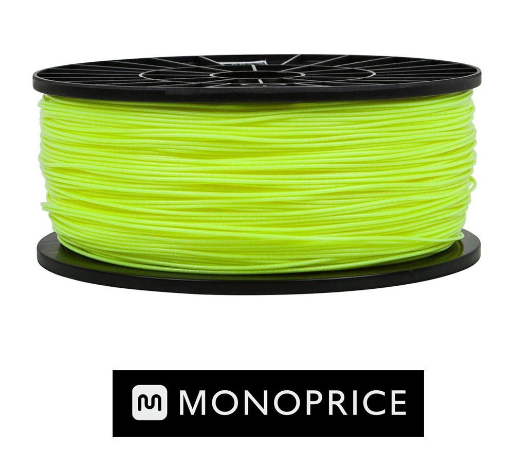 Monoprice Fluorescent Yellow PLA 3D Filament
